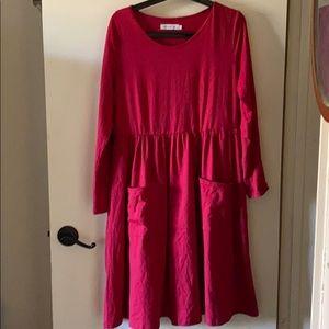 MISSLOOK red front pockets dress